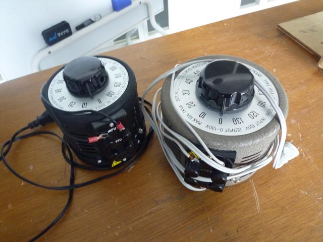 交流電圧調整器・スライダックAC Voltage Regulator・Variable Transformer